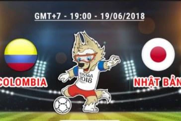 Tỷ lệ cược trận Colombia vs Nhật Bản 19h ngày 19/6 bảng H