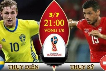 Nhận định Thụy Điển vs Thụy Sỹ 21h ngày 03/07