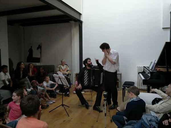 Atelier concert, accordéon contemporain
