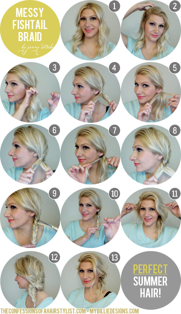 A Messy Fishtail Braid Tutorial For the Boho in You