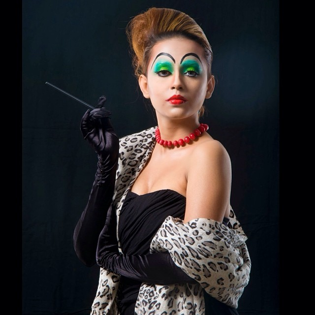 "Cruella Deville inspired makeup for ""Stop Animal Cruelty"" campaign"
