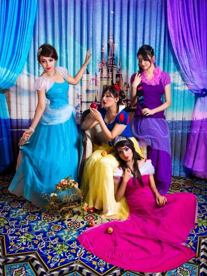 Disney Princesses' inspired makeup for TMag