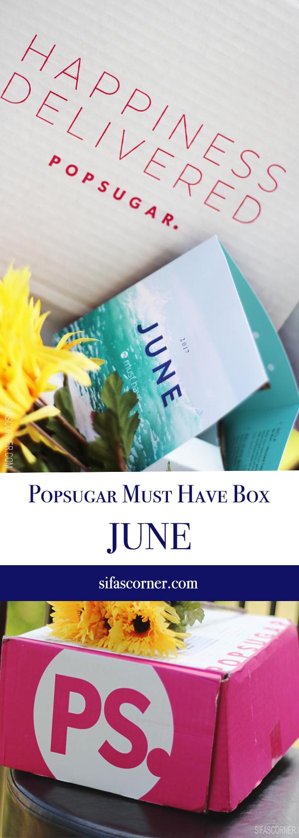 June 2017 POPSUGAR Must Have Box