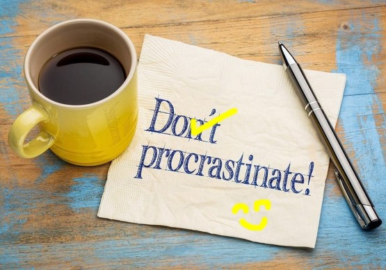 Use your procrastination as your power to imagine and create your own positive space.