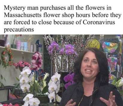 A mystery man purchased all the flowers from a florist hours before her shop was being shut down