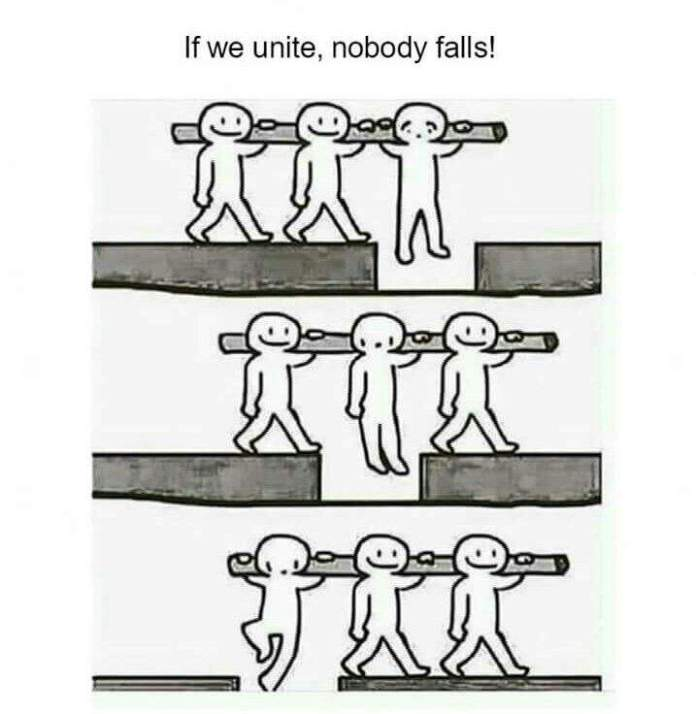 Everybody wins with unity!