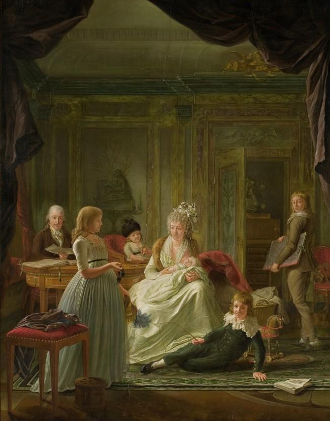 Portret_van_Aernout_van_Beeftingh,_zijn_echtgenote_Jacoba_Maria_Boon_en_hun_kinderen_Rijksmuseum_SK-C-1586