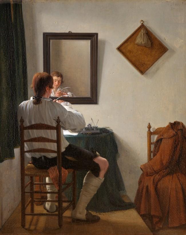 A Writer Trimming his Pen_Jan Ekels(II)(1759-1793)_1784