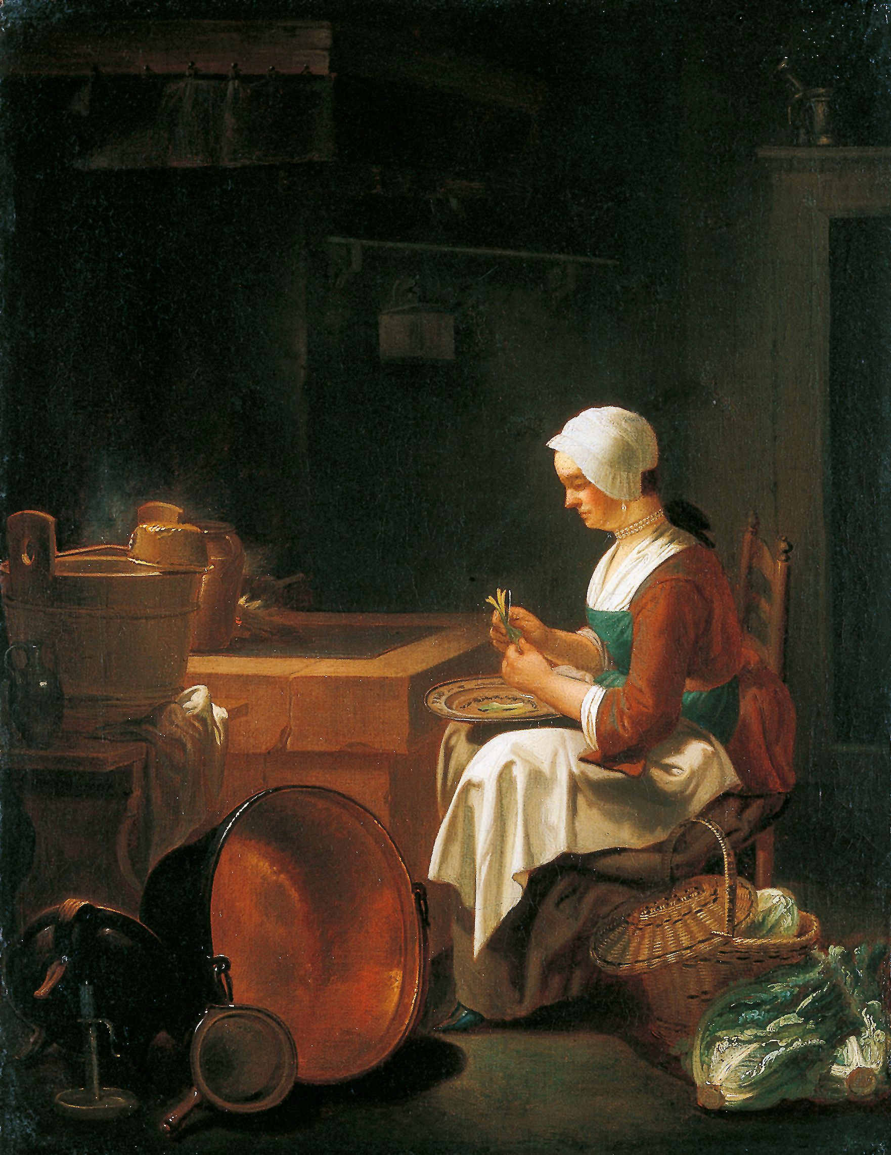 kitchen maid rustic furniture the in justus juncker sifting past