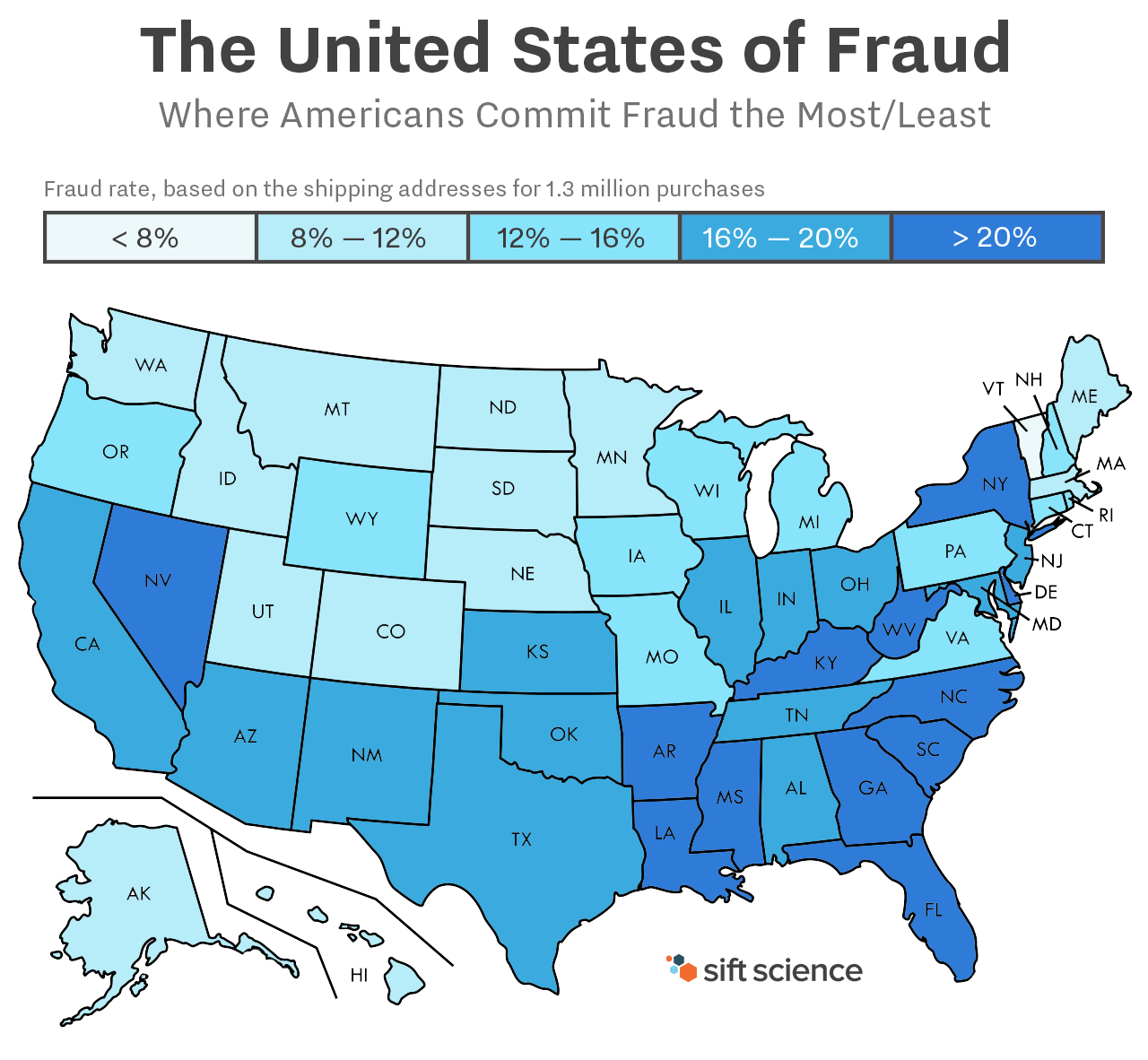 Top U S States For Online Fraud