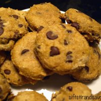 CHOCOLATE CHIP PUMPKIN COOKIES- Vegan, Gluten-Free, Refined Sugar-Free & Oil-Free