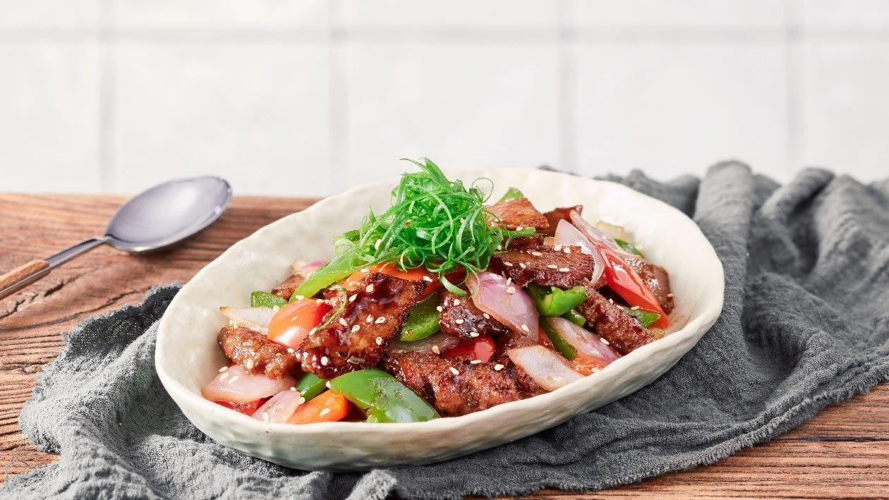 燒汁彩椒炒植系牛肉片 – 食譜詳情   Unilever Food Solutions