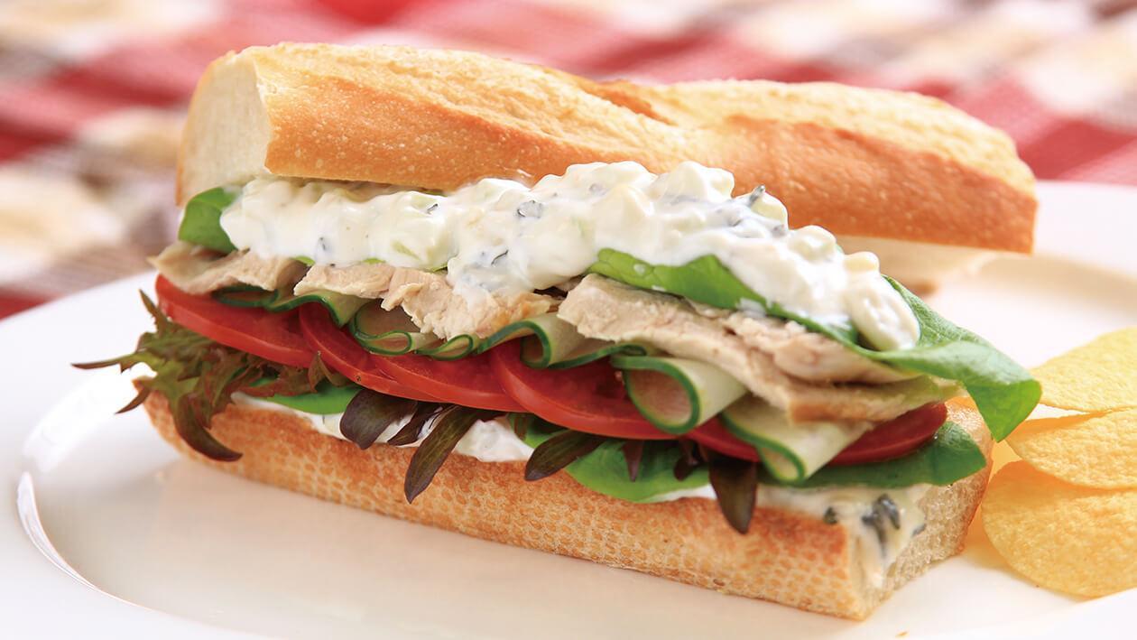 希臘風味雞肉三明治 | Unilever Food Solutions