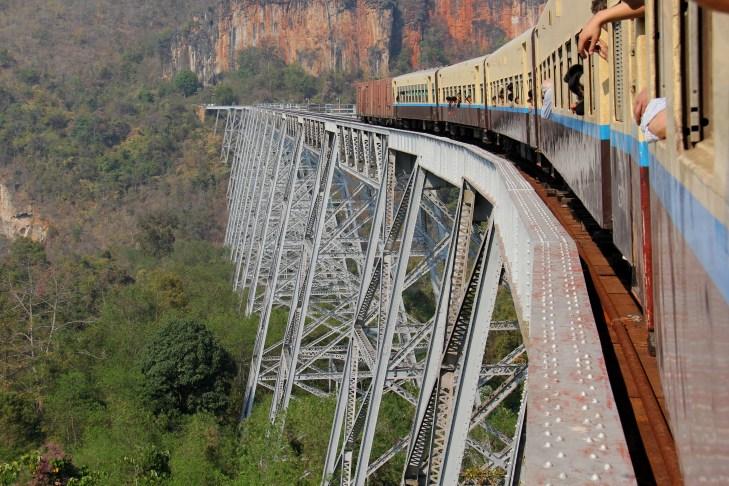 crossing the Gokteik Viaduct