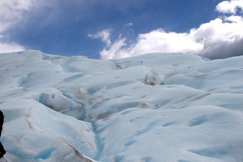 Siga na Viagem - Minitrekking sobre o Glaciar Perito Moreno - Formação e fenda do glaciar