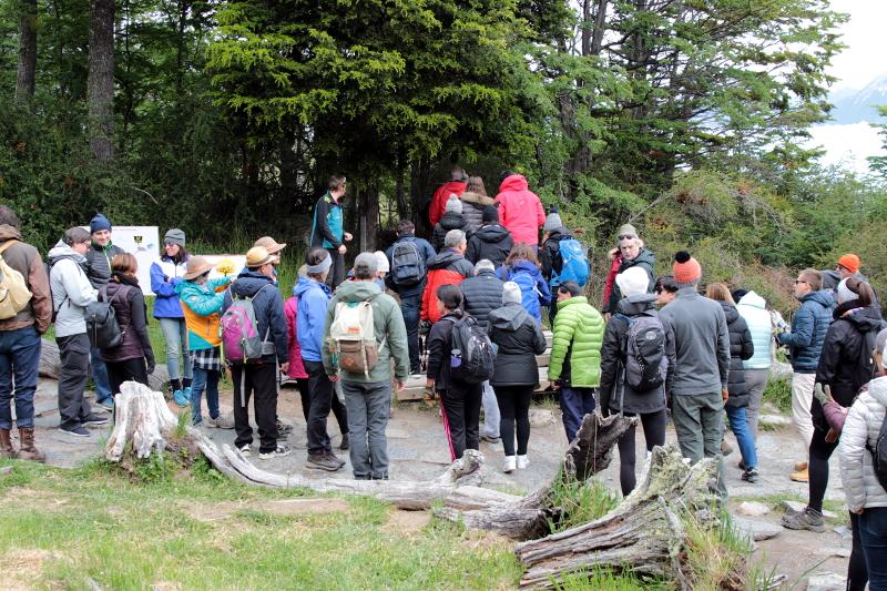 Siga na Viagem - Minitrekking sobre o Glaciar Perito Moreno - Início da trilha para a base do glaciar