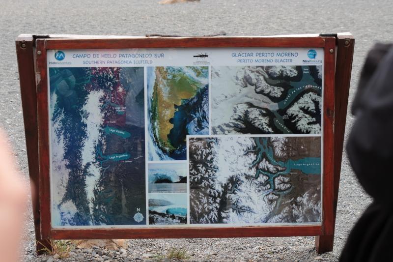 Siga na Viagem - Minitrekking sobre o Glaciar Perito Moreno - Placa de informação sobre o glaciar