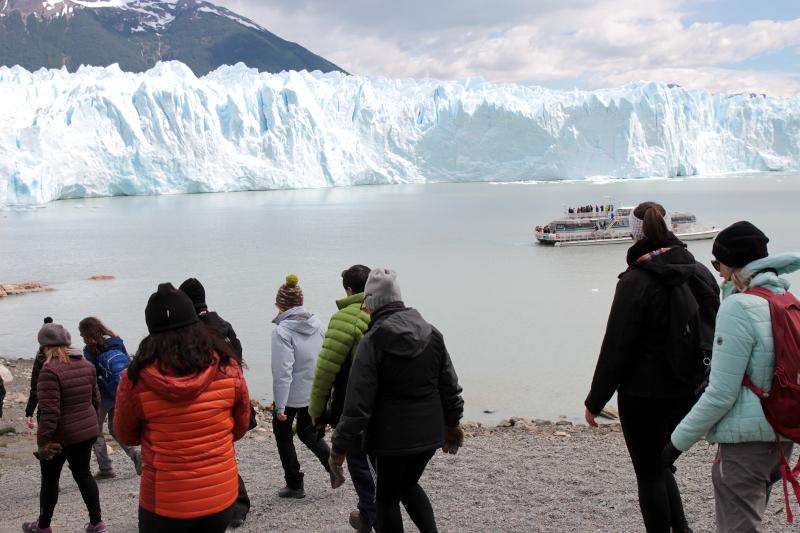 Siga na Viagem - Minitrekking sobre o Glaciar Perito Moreno - Trilha para a base do glaciar