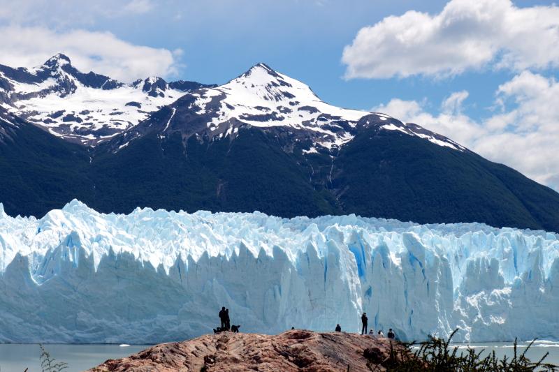 Siga na Viagem - Minitrekking sobre o Glaciar Perito Moreno - Vista do glaciar pelo refúgio