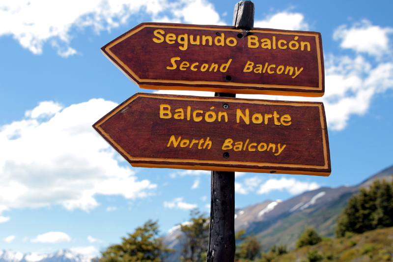 Siga na Viagem - Glaciar Perito Moreno - Placas de direção