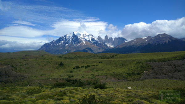 Siga na Viagem - Tour no Parque Nacional Torres Del Paine - Visão de dentro do transporte.