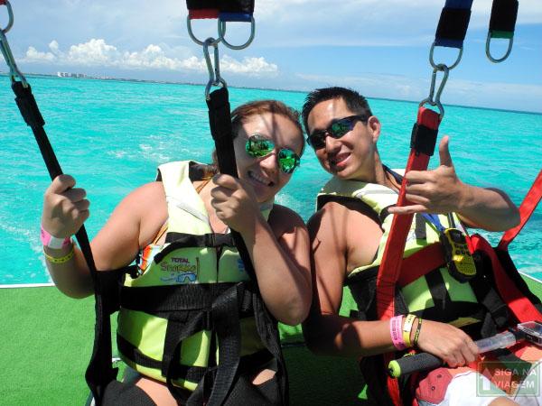 Siga na Viagem - Parasailing em Cancún um passeio surpreendente - Início do passeio