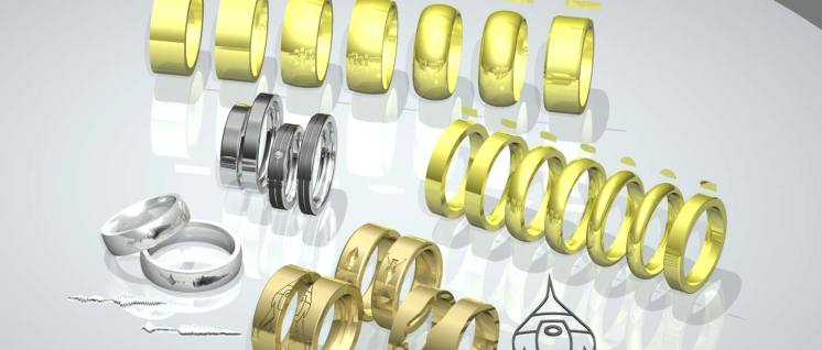 3D Entwurf Ringe