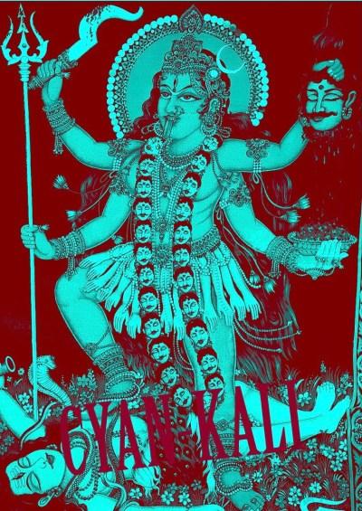 Cyan Kali - digital artwork - Wortspiel