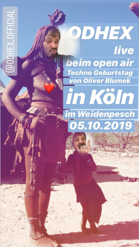ODHEX live in Köln beim Techno Geburtstag von Oliver Blumek