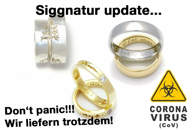 Eheringe Trauringe corona individuell Schmuck Siggnatur Goldschmied Duesseldorf