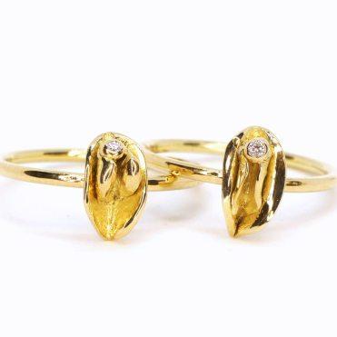 bodyjewel clithanger Ring Jewelrydesign gold Goldschmied düsseldorf