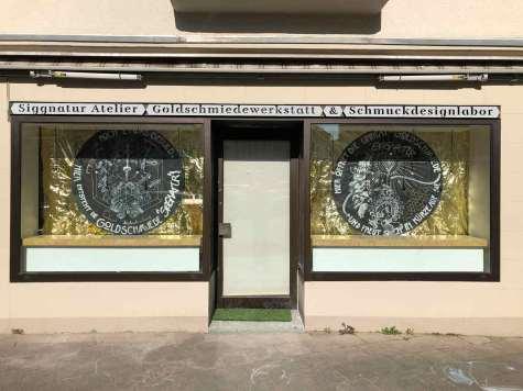 Siggnatur Siegfried Büeler Goldschmied in der Rochusstraße Schmuckdesign in Düsseldorf