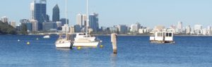 About Siggy's Perth Accommodation short term lets Perth WA -Perth foreshore view from South Perth