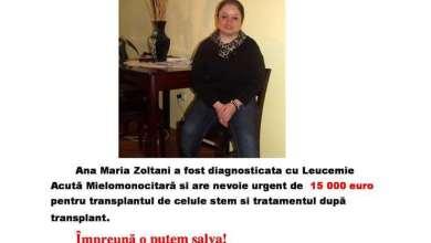Photo of Șansă la viață pentru Ana Maria Zoltani
