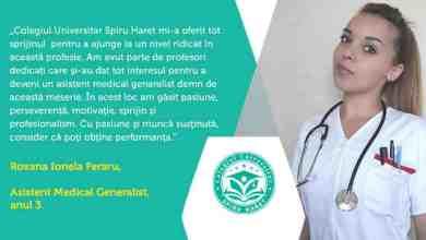 Photo of Asistent medical, cea mai solicitată specializare a Colegiului Universitar Spiru Haret
