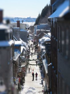 vieux quebec city winter