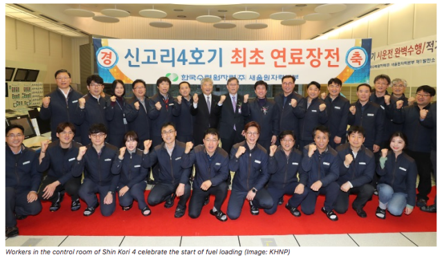 Fuel loading underway at new South Korean reactor