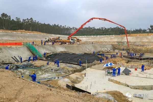Construction advanced in order of Changjiang nuclear projects