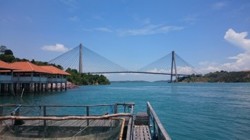 Great view of the bridge from Barelang Seafood Kelong