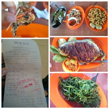 Barelang Seafood - Our lunch