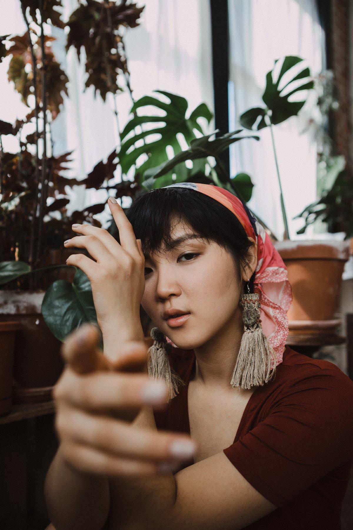 creative portrait bohemian fashion kansas city asian model