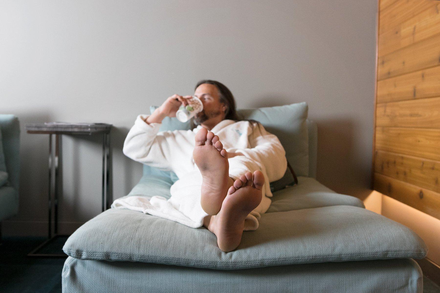 acacia spa springfield missouri man relaxing robe
