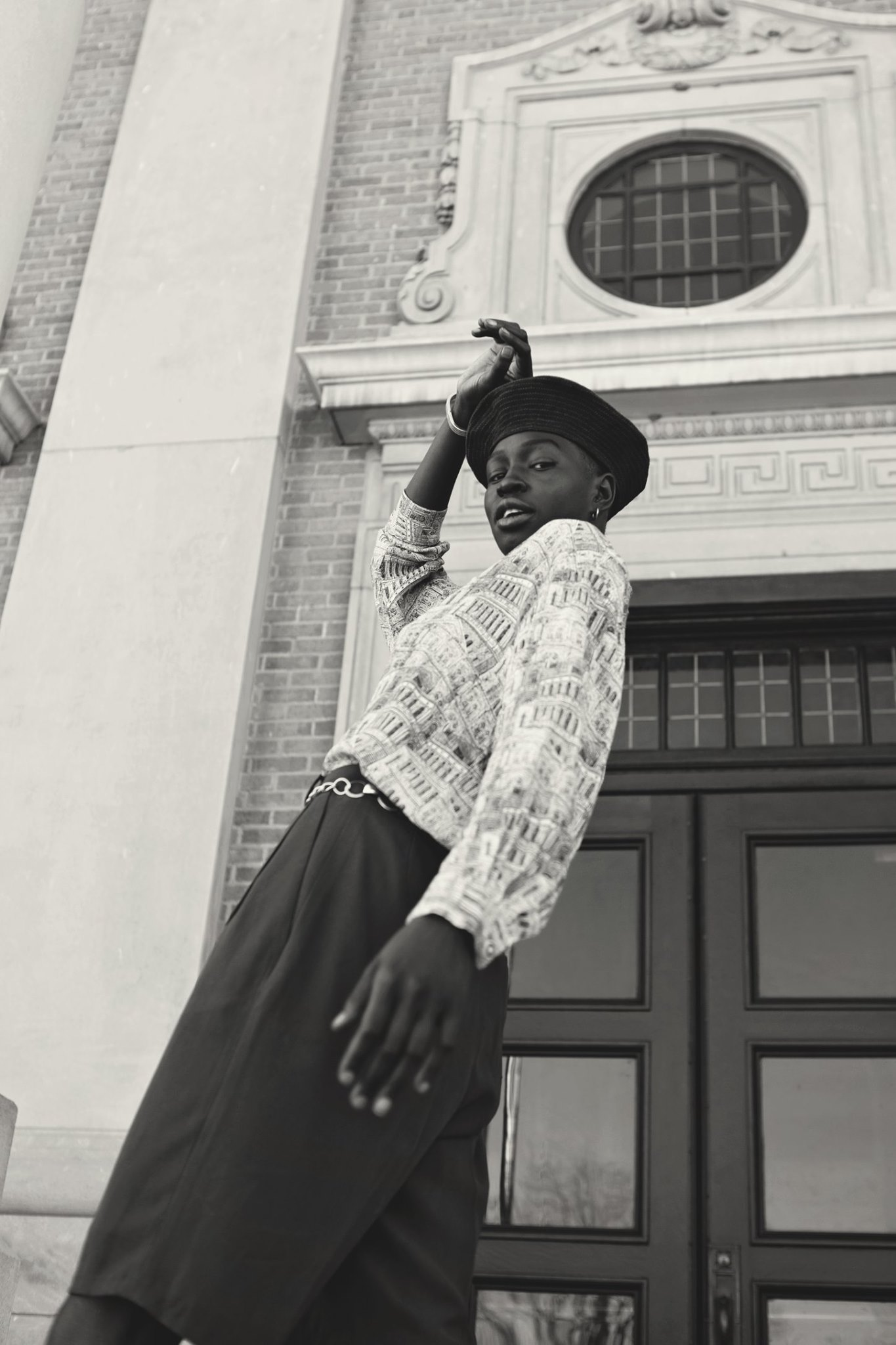 kansas city fashion editorial vintage sustainable fashion beret europe