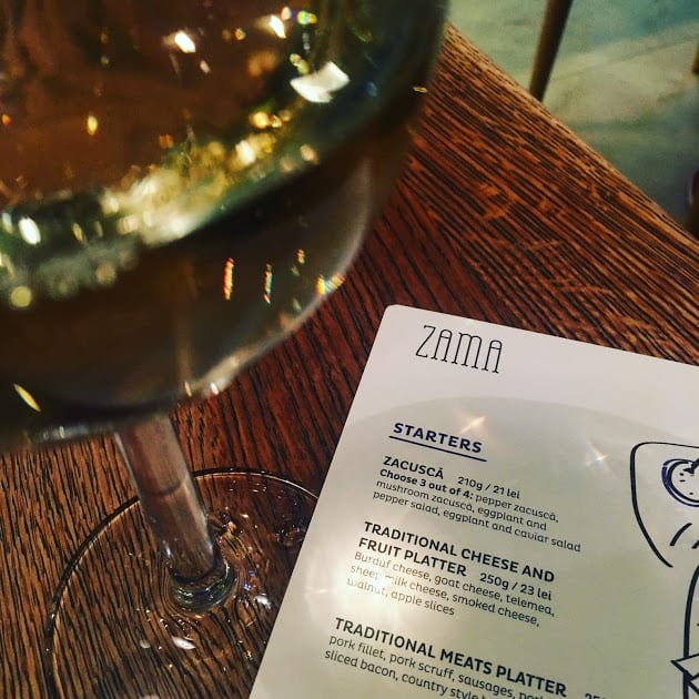 traditional Romanian dining at Zama Bistro