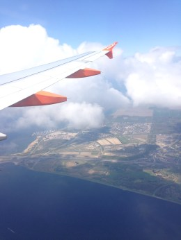 Flying away over The Netherlands.