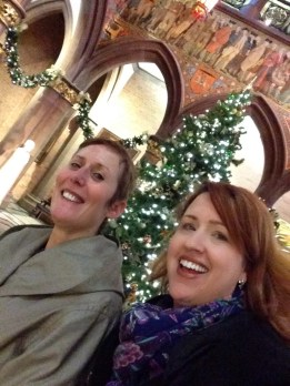 Christmas tea at the National Portrait Gallery with Susan, Christmas