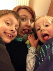 Silly selfies with Theo and Lotte,