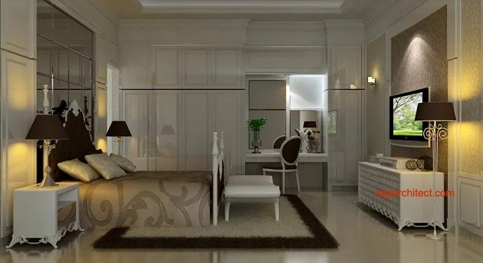 Desain Interior Klasik  Kamar TidurBedroom