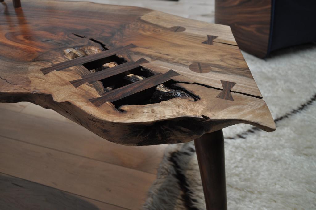 chairs for standing desks red desk chair uk walnut slab bench | siglo moderno