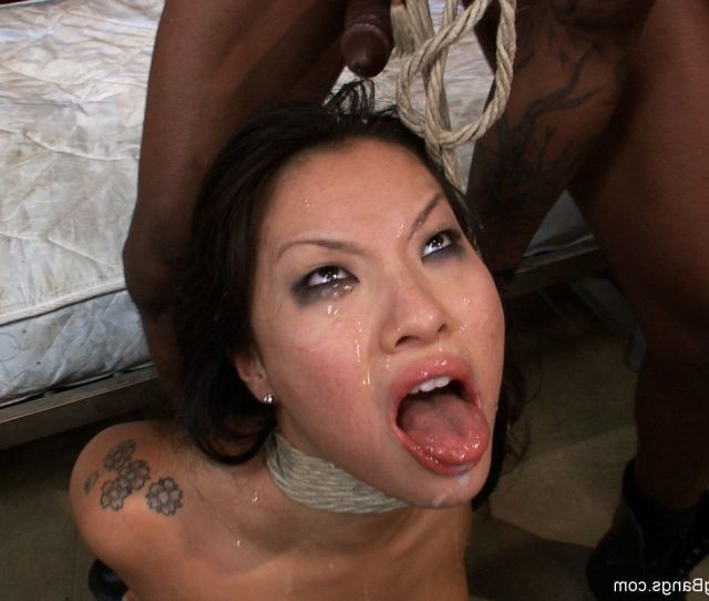 Asa Akira In Severe  Dude Gangbang Owned In Bondage Pressed Airtight Creamp